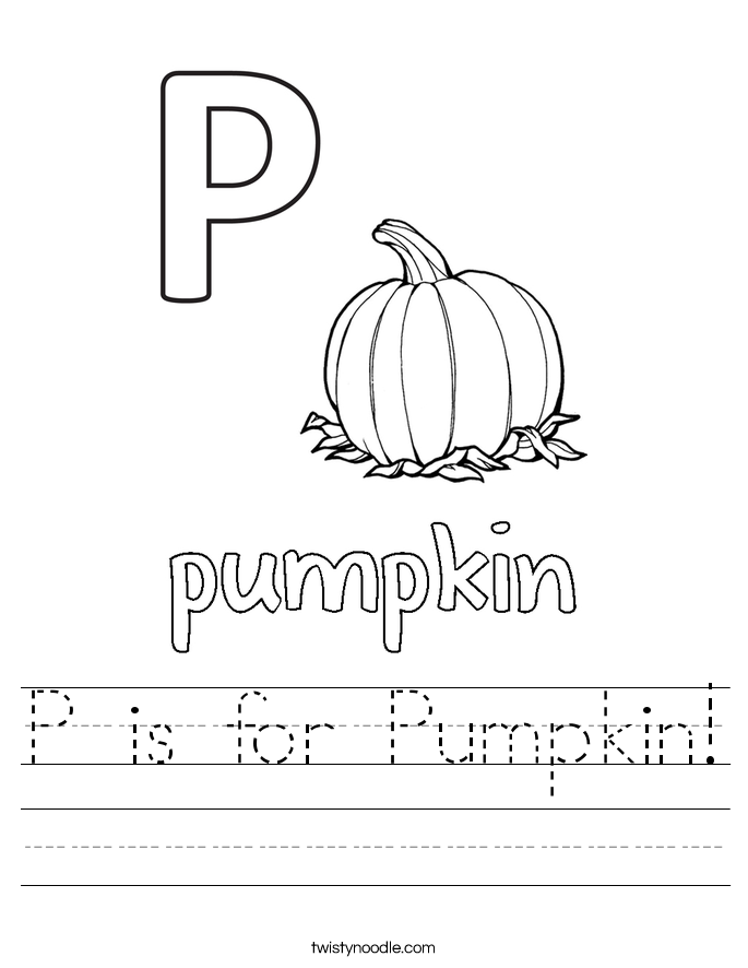 P is for Pumpkin! Worksheet
