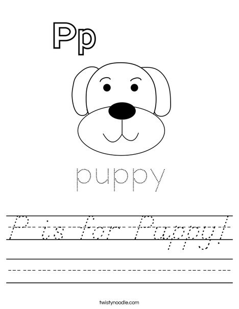 P is for Puppy Worksheet