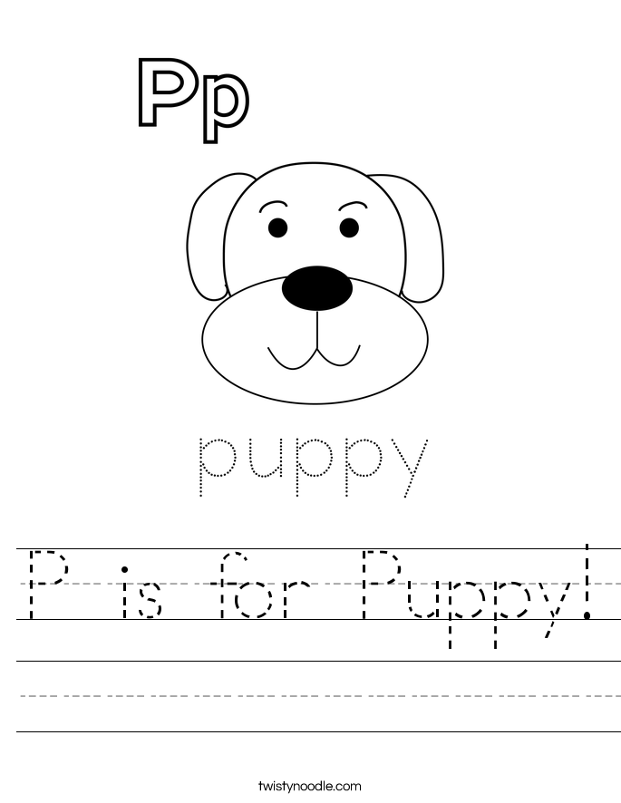 P is for Puppy! Worksheet