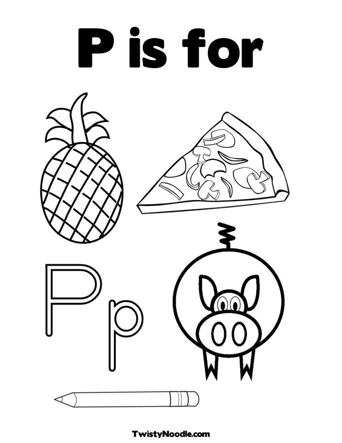 P Coloring Pages