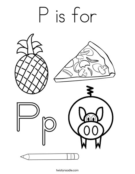 P is for Coloring Page