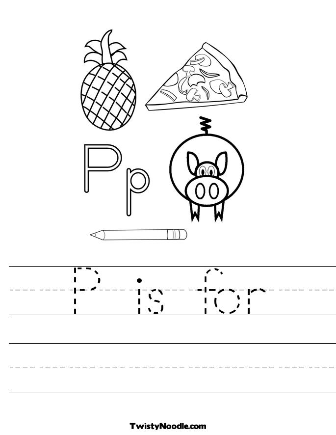 P is for Worksheet