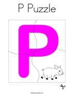 P Puzzle Coloring Page