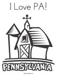 I Love PA! Coloring Page