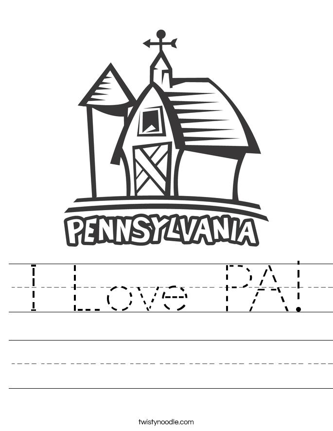 I Love PA! Worksheet