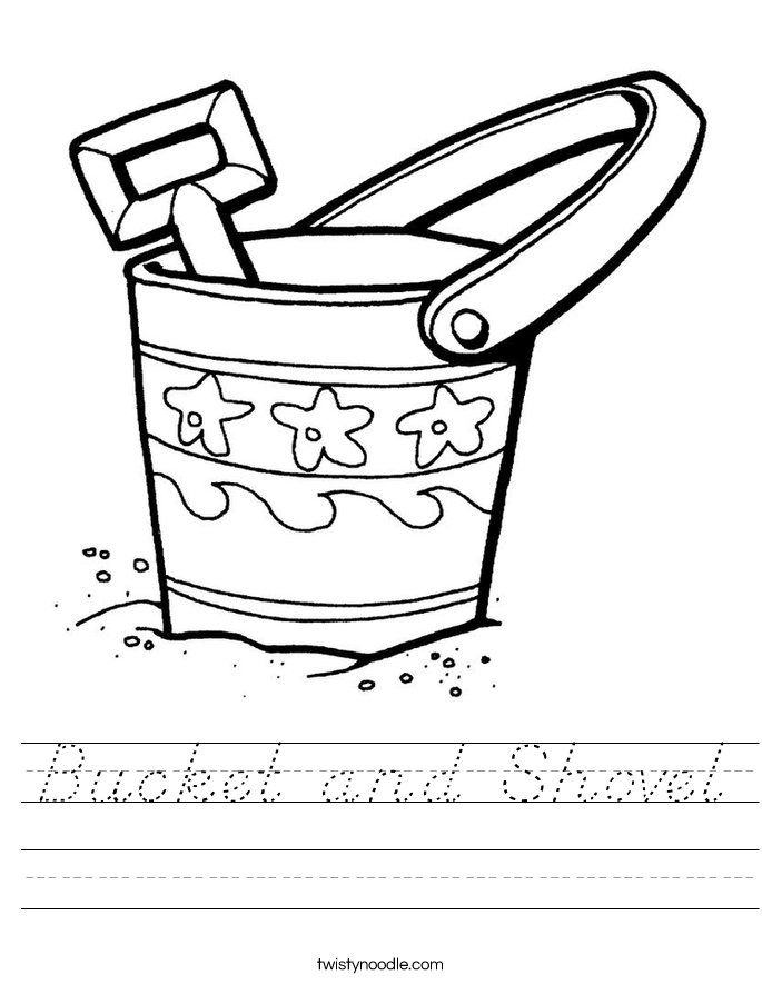 Bucket and Shovel Worksheet