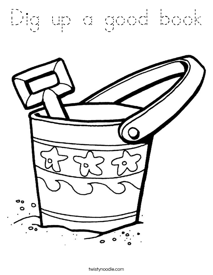 Dig up a good book Coloring Page