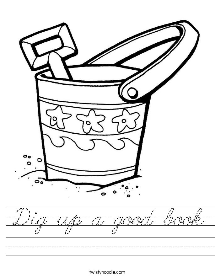 Dig up a good book Worksheet