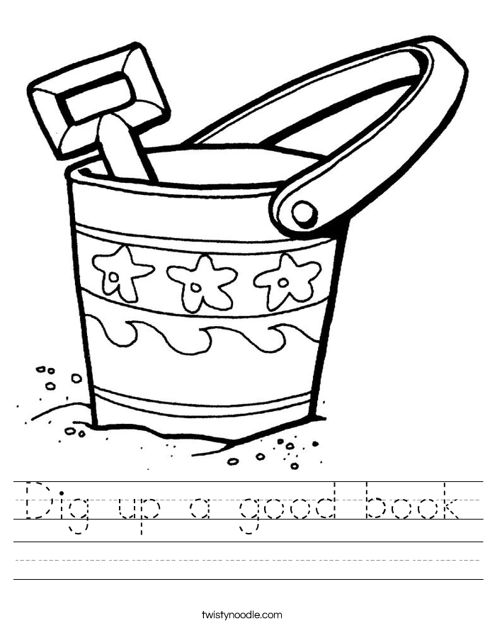 Dig up a good book Worksheet