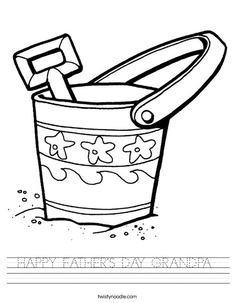Pail and Shovel Worksheet