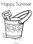 Happy Summer Coloring Page