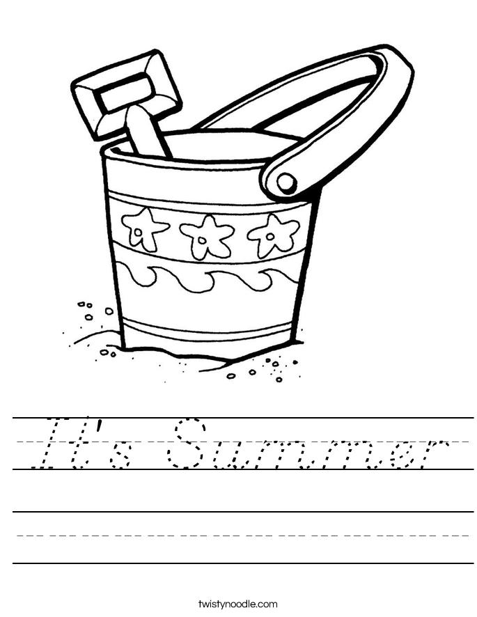 It's Summer Worksheet