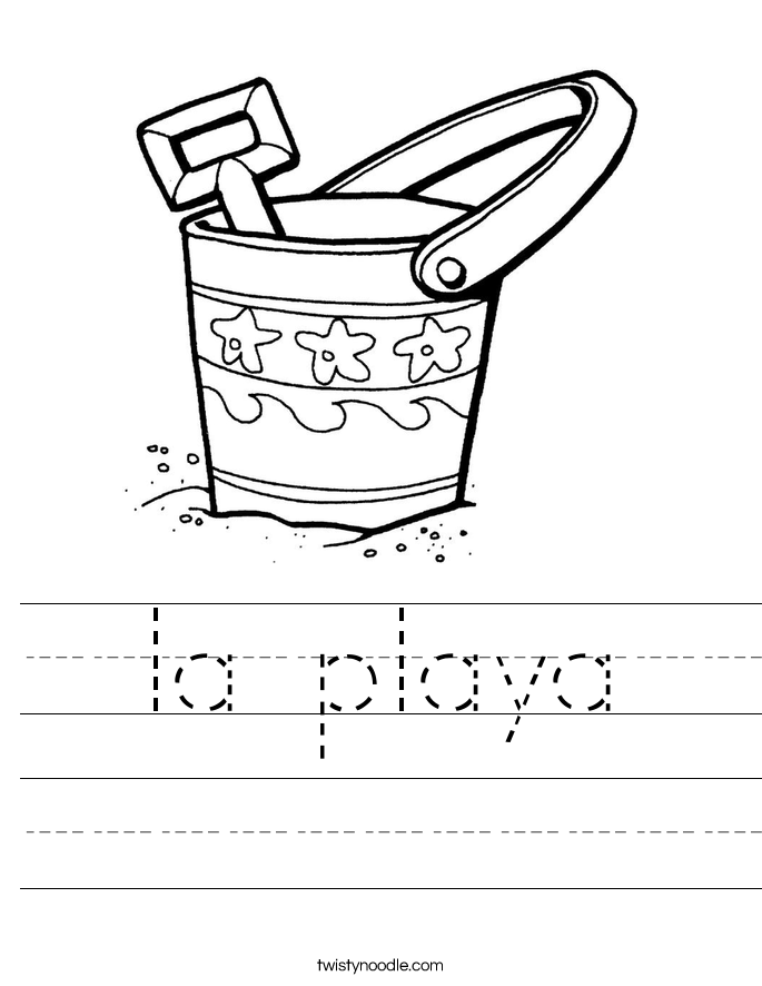 la playa Worksheet