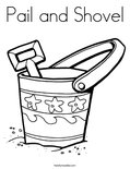 Pail and ShovelColoring Page