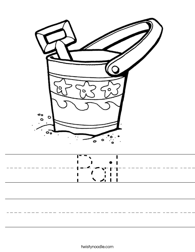 Pail Worksheet