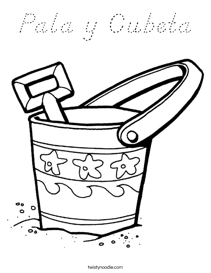 Pala y Cubeta Coloring Page
