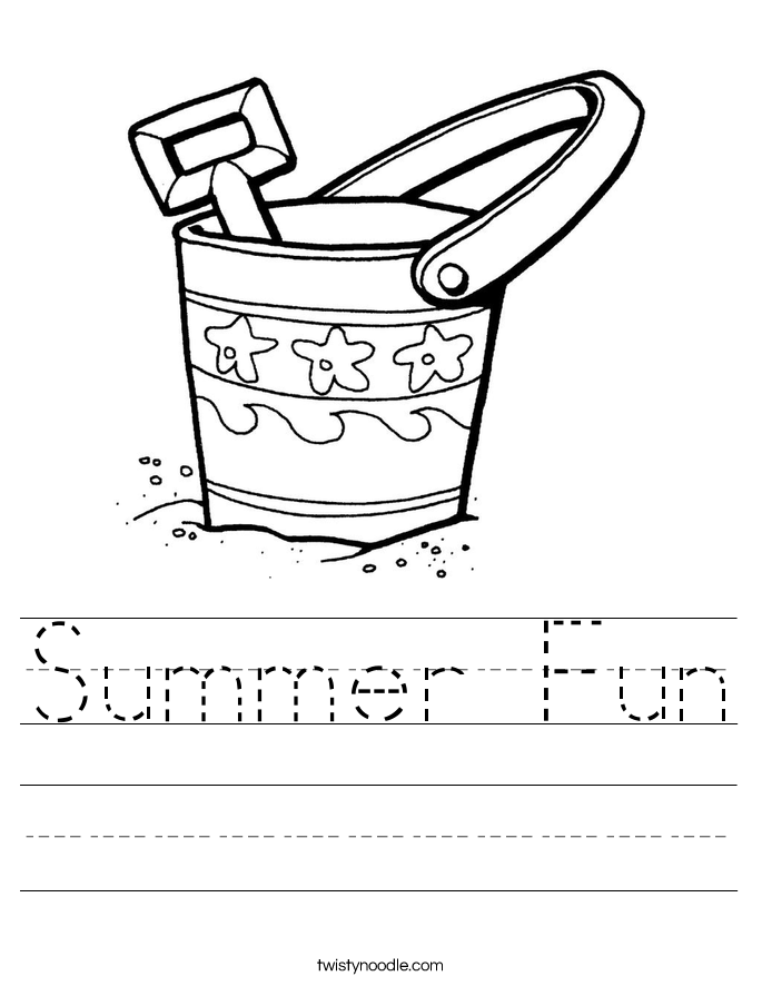 Summer Fun Worksheet Twisty Noodle