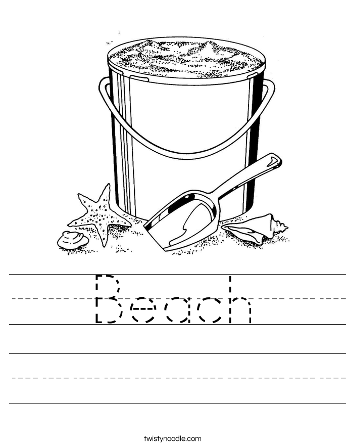 Beach Worksheet Twisty Noodle