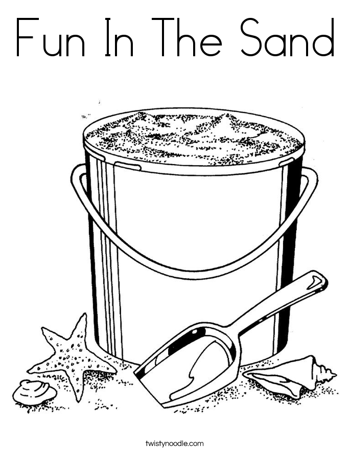 Fun In The Sand Coloring Page
