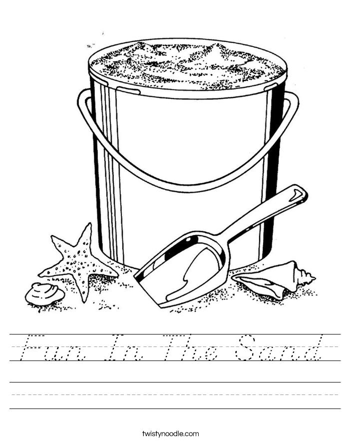Fun In The Sand Worksheet