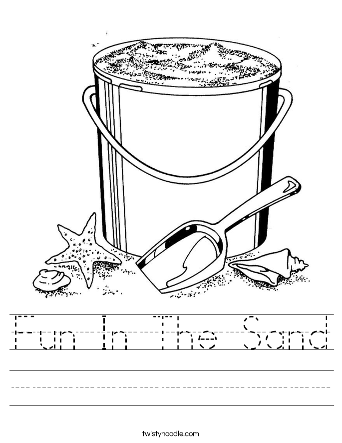 Fun In The Sand Worksheet