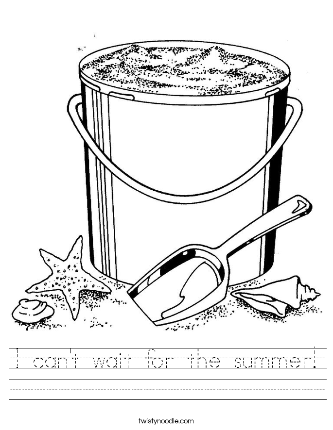 I can't wait for the summer! Worksheet