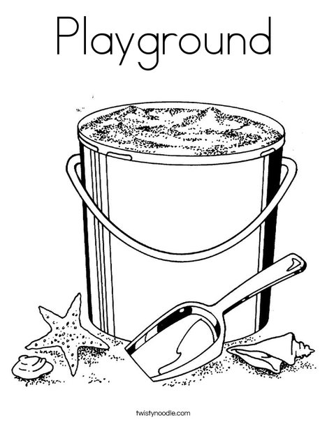 Pail and Shovel 2 Coloring Page