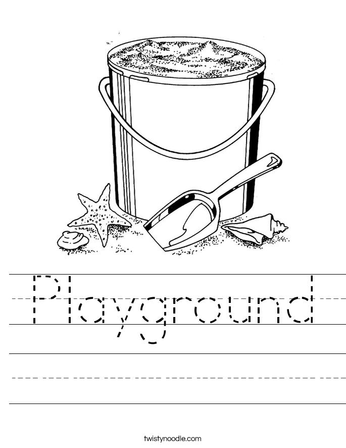 Playground Worksheet Twisty Noodle