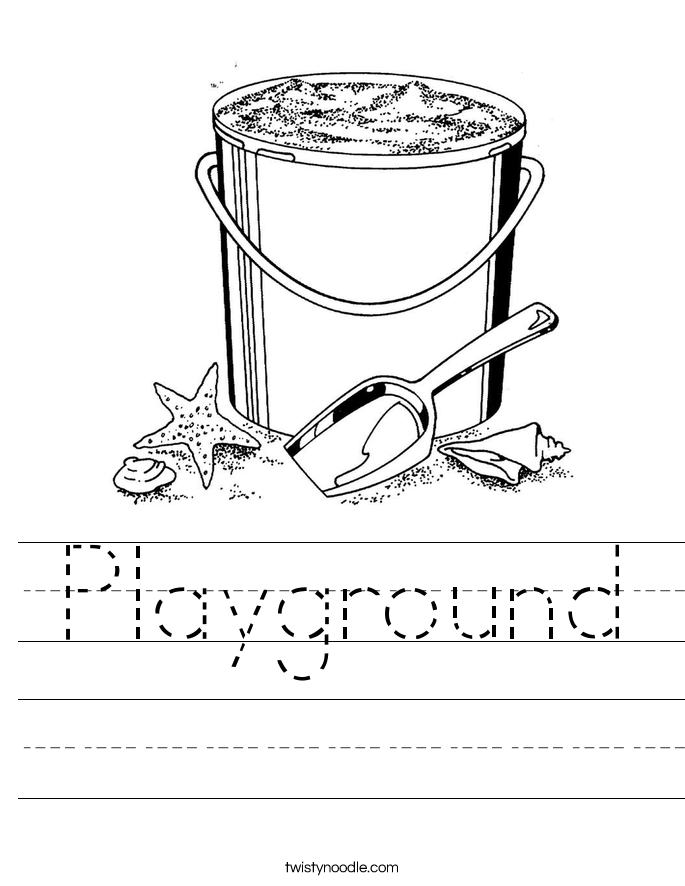 Playground Worksheet Twisty Noodle