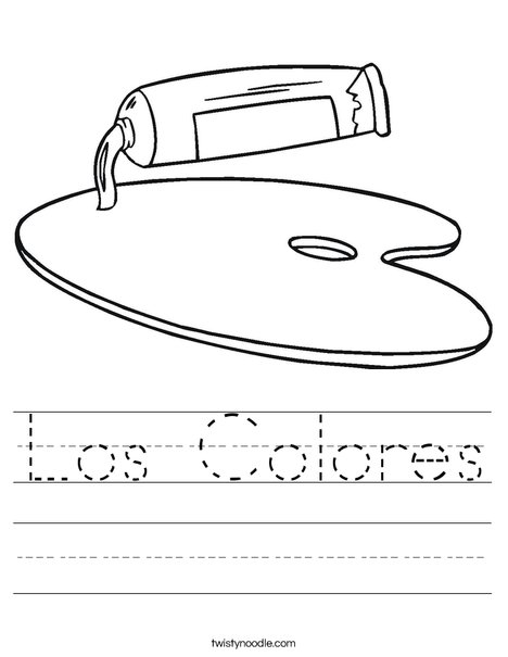Los Colores Worksheet - Twisty Noodle