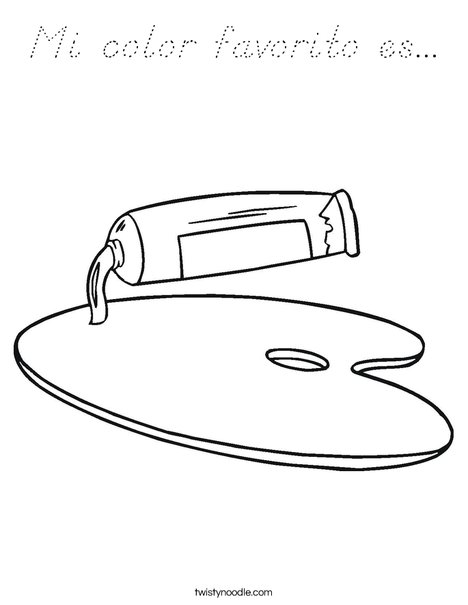 Paint Coloring Page
