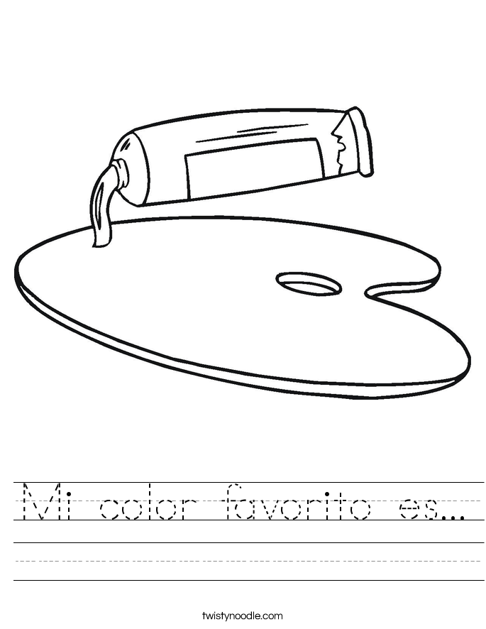 Mi color favorito es... Worksheet