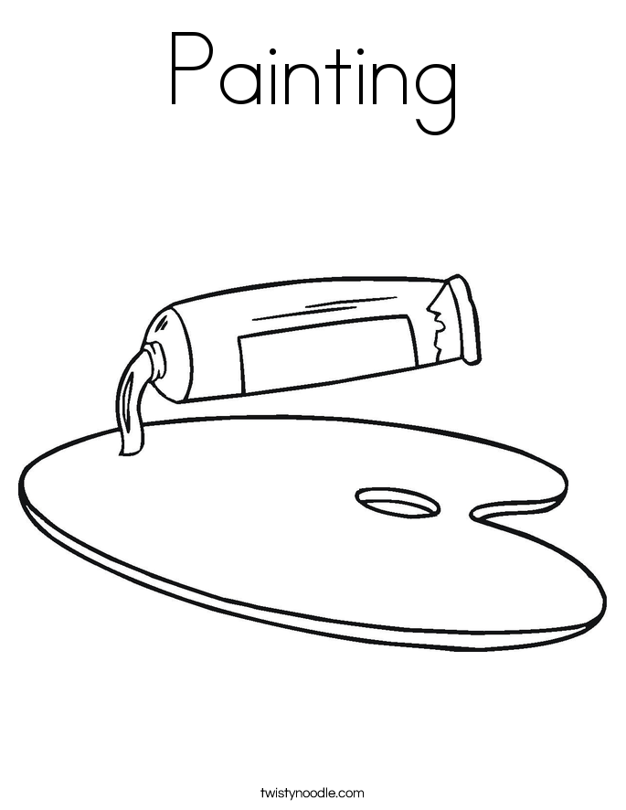 Painting Coloring Page - Twisty Noodle