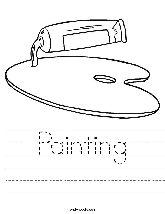 Painting Worksheet