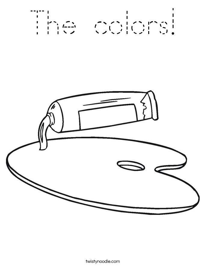 The colors! Coloring Page