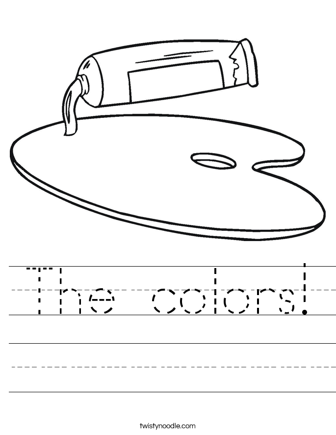 The colors! Worksheet