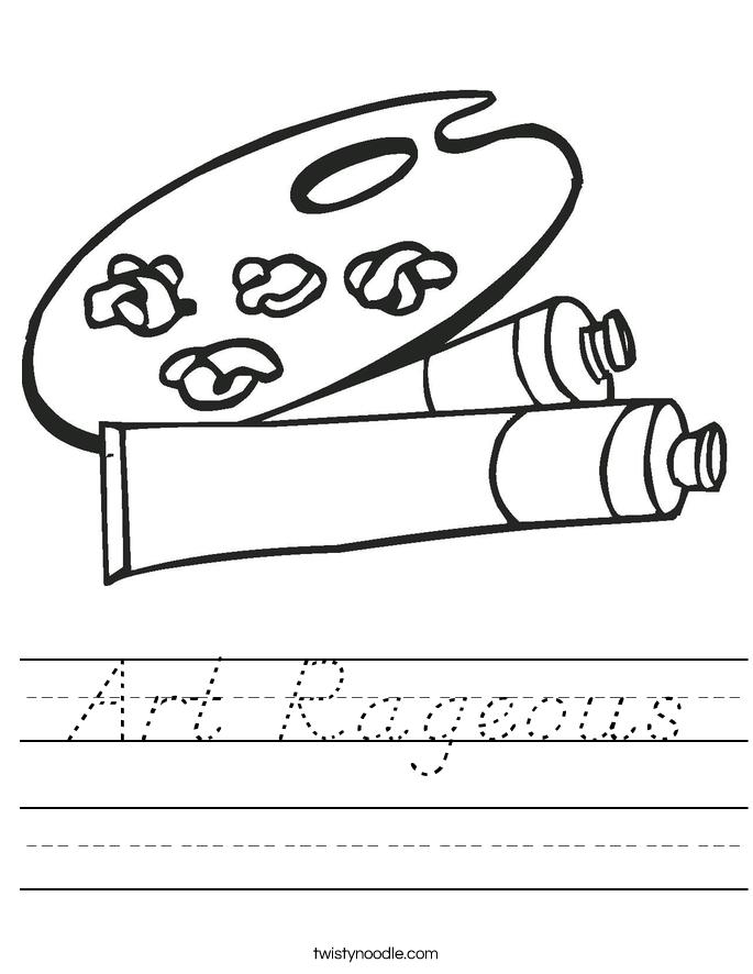 Art Rageous Worksheet