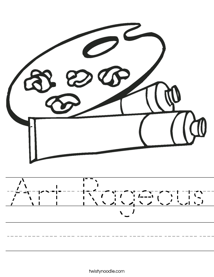 Art Rageous Worksheet