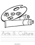 Arts & Culture Worksheet
