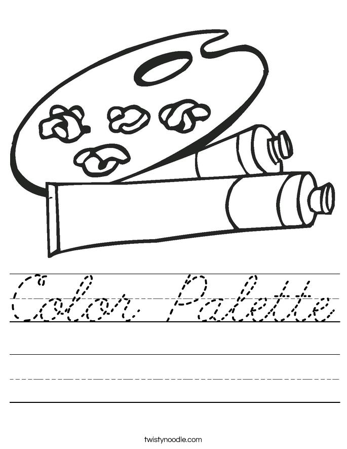 Color Palette Worksheet