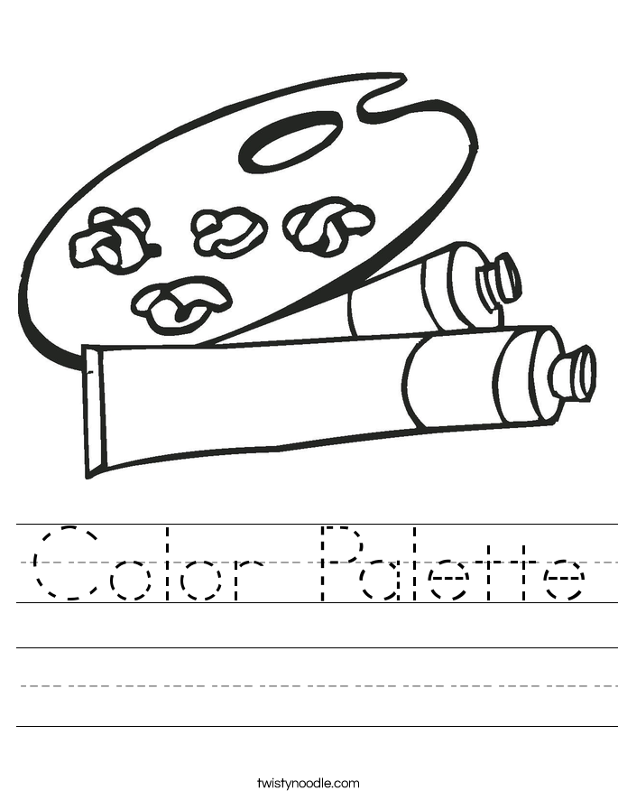 Color Palette Worksheet