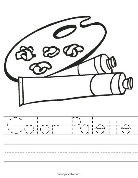 Paint Palette Worksheet