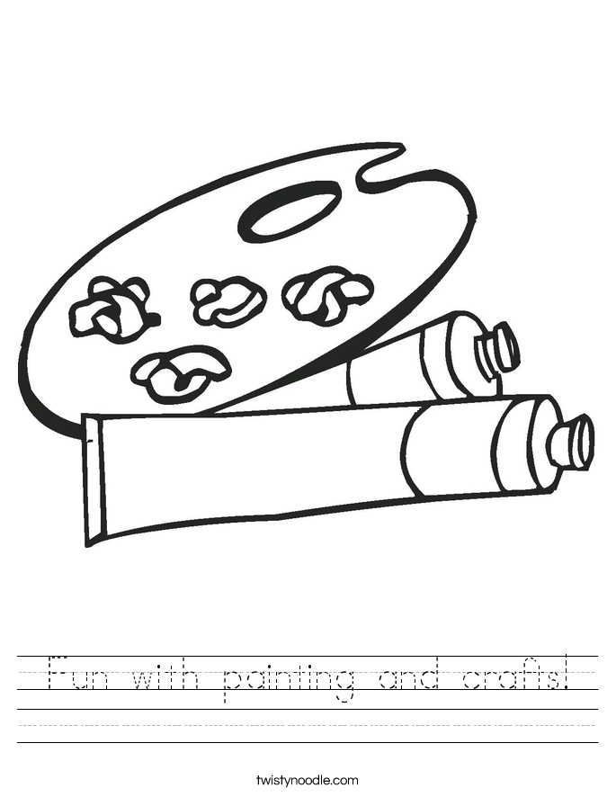 Fun with painting and crafts! Worksheet