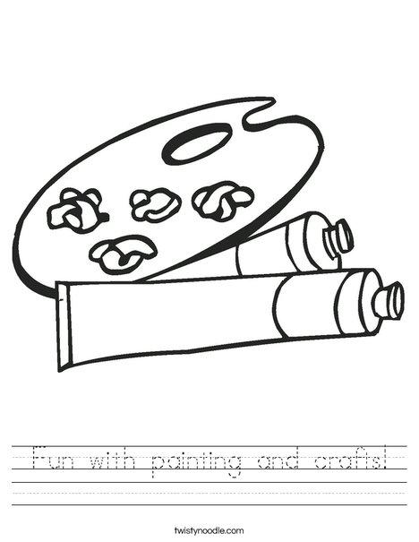 Paint Palette Worksheet
