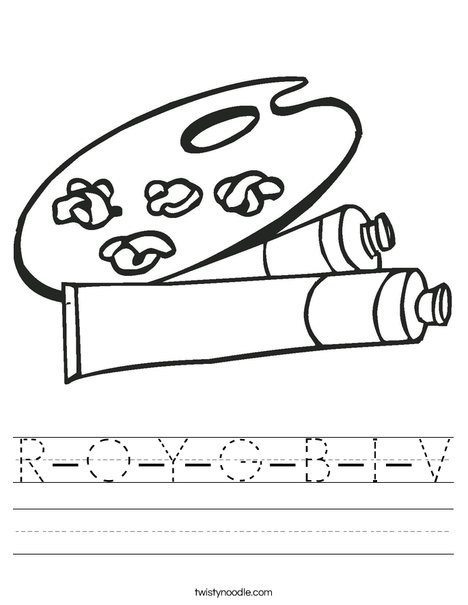 Roy G Biv Coloring Sheet Worksheet Worksheets For All Download And ...