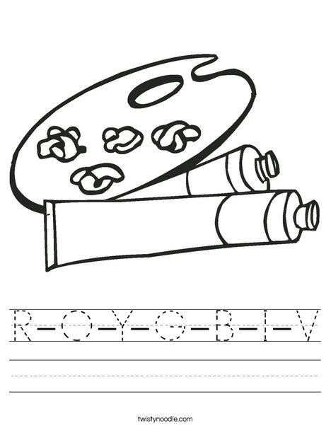Roy G Biv Coloring Sheet Worksheet Worksheets For All Download And ...