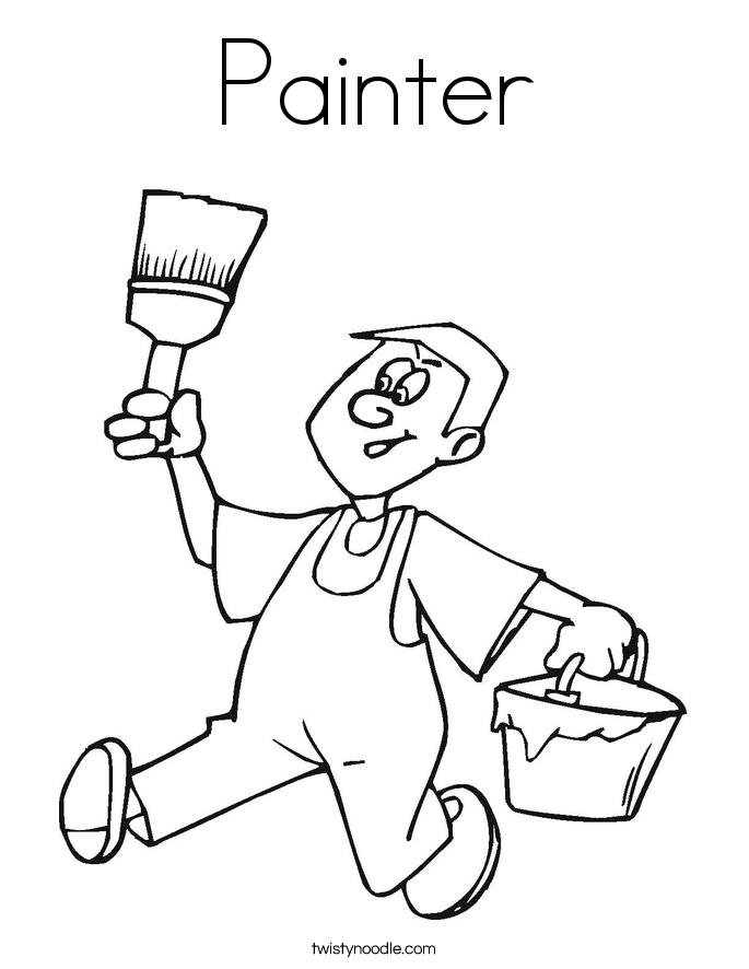 Painter Coloring Page.