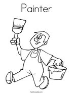 Painter Coloring Page