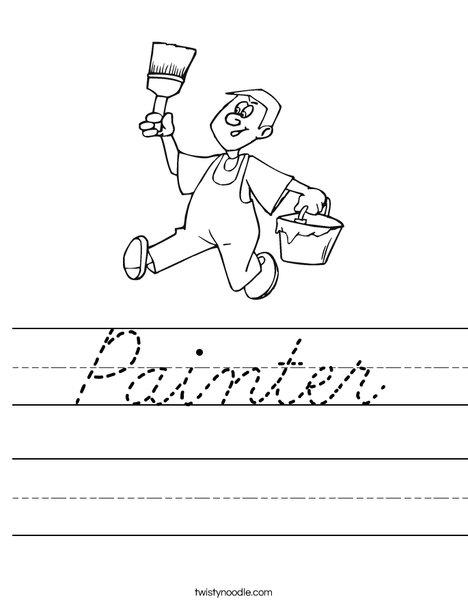 Painter Worksheet