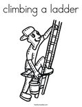 climbing a ladder Coloring Page